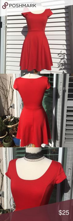 """✨NEW!✨ """"Say YES to the Red Dress!"""" ❤️ This is a worn-once sweet red dress!! Size S. Pretty neckline and fabulous, flattering, flirty design!  Just in time for Valentine's Day! ❤️❤️❤️ Dress is a good medium-weight knit with some stretch for fit and comfort. This cutie is in excellent, like new condition! 😍 Vibe Sportswear Dresses"""