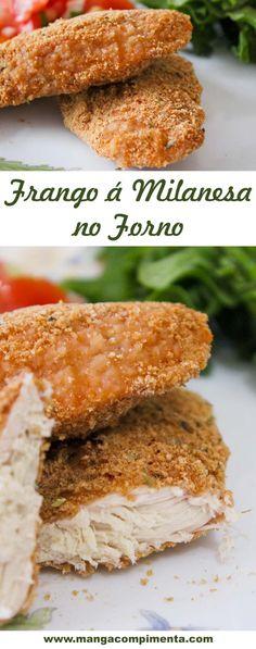 Frango à Milanesa no Forno - Aprenda a fazer esse filé delicioso para o almoço! #receita #comida #frango