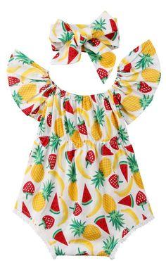 Fruit Baby Girl Summer Romper