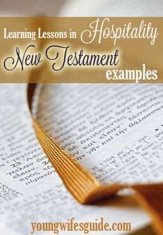 Hospitality through the Bible: New Testament