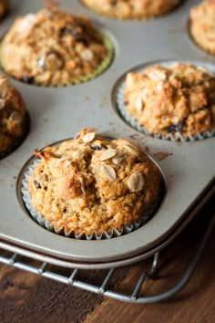 Healthy Spiced Carrot Orange Muffins