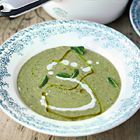 Jamie Oliver's courgette soup with a twist of summer in every spoonful, thanks to those mint leaves. Lovely jubbly it was, Mr O.