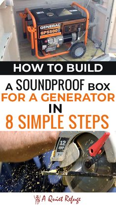 Here's how to build a soundproof box for a generator for a quiet time. Generator Shed, Emergency Generator, Portable Generator, Emergency Preparation, Emergency Preparedness, Soundproof Box, Best Survival Books, Building A Wooden House, Home Electrical Wiring