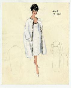 [Vintage Dior sketch.]