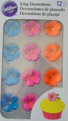 Hibiscus Flower Icing Decorations