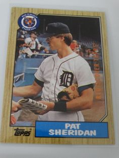 2017 Topps Series 1 87 Pat Sheridan Tigers Buyback Rediscover Bronze Stamp Card #topps #DetroitTigers