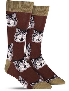 These unique animals forego their signature snarl to show they're sweet side on these fun animal socks.