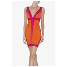 Herve Leger Billie Colorblocked Dress http://www.legersaleherve.com/herve-leger-billie-colorblocked-dress-p-3413.html