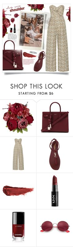"""Untitled #581"" by beautifulplace ❤ liked on Polyvore featuring Yves Saint Laurent, Tory Burch, Johanna Ortiz, By Terry, NYX, Chanel and Ray-Ban"
