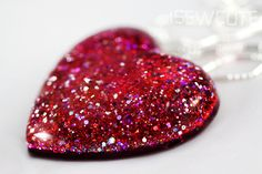 This makes me Happy..glitter heart.