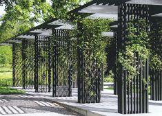 SUBTILITAS — Staufer & Hasler - Botanical garden... Outdoor Pergola, Outdoor Landscaping, Garden Structures, Outdoor Structures, Louvered Pergola, Terrasse Design, Green Facade, Landscape Architecture Design, Canopy Design