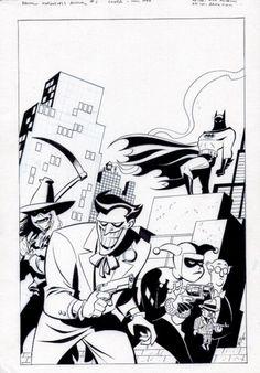 Batman Adventures Annual Cover Sketch - Bruce Timm