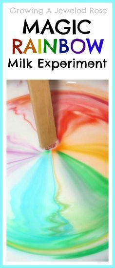 Magic RAINBOW milk- super fun Science for kids!