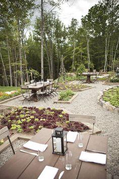 Earth Outdoor Dining @ Hidden Pond resort, Kennebunkport, ME. A Ken Oringer restaurant