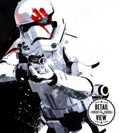 Star Wars Finn FN-2187 Stormtrooper fan art by MediaGraffitiStudio