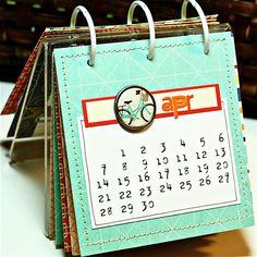 Desk Calendar, by Julie Bonner, using Hello Sunshine Kit.