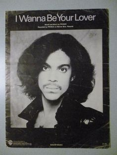 I WANNA BE YOUR LOVER Sheet Music PRINCE Pop #11 R&B #1 1980 his 1st GOLD single - http://musical-instruments.goshoppins.com/sheet-music-song-books/i-wanna-be-your-lover-sheet-music-prince-pop-11-rb-1-1980-his-1st-gold-single/