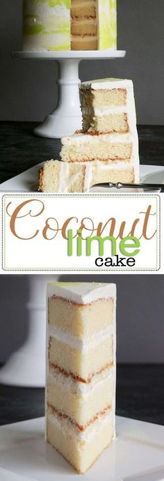 Put a Lime in Your Coconut Cake! Light, Fluffy, and Tender Coconut Cake Recipe. Perfect for the summer. This is the last coconut cake recipe you'll ever need. Get this scratch recipe now! via Kara's Couture Cakes Cupcakes, Cupcake Cakes, Cake Cookies, Gourmet Cakes, Food Cakes, Just Desserts, Delicious Desserts, Dessert Recipes, Summer Cake Recipes