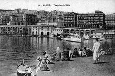 alger,vue prise du mole, 1900s