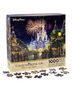 "Walt Disney World Thomas Kinkade Main Street U.S.A. Fireworks 27""x20"" 1000 Piece Puzzle Thomas Kinkade Disney Puzzles, Disney Jigsaw Puzzles, Disney World Map, Disney World Resorts, Disney Mickey, Disney Parks, Disney Usa, Disney Souvenirs, Disney Nerd"
