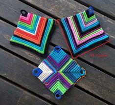Craft is life! Crochet Kitchen, Crochet Home, Knit Crochet, Crochet Potholders, Textiles, Crochet Basics, Drops Design, Hot Pads, Yarn Needle