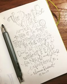 "A quick imperfect rough sketch of this quote... The Purpose of Life by Eleanor Roosevelt but too tired to finalize it with ink. Hopefully…"" • Aug 23, 2019 at 4:41pm UT Rough Draft, Go For It, Eleanor Roosevelt, Handwriting, Hand Lettering, Tired, Im Not Perfect, Purpose, Pencil"