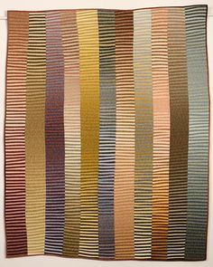Kent Williams quilt -- but I can so see this knit in heathery variegated yarns, too!