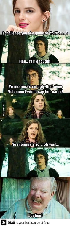 Hermione's revenge... that was terrible.