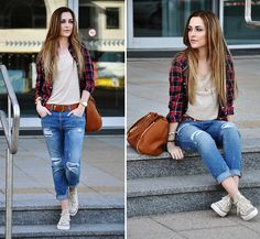 My favorite casual style along with flanel shirt