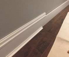 Wimpy baseboards, be gone! - Easy DIY upgrade for thicker baseboards - . - Wimpy baseboards, be gone! – Easy DIY upgrade for thicker baseboards – Wimpy baseboards, be gon - Home Renovation, Home Remodeling Diy, Kitchen Remodeling, Cheap Remodeling Ideas, Home Improvement Projects, Home Projects, Cheap Home Decor, Diy Home Decor, Room Decor
