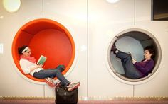 Flying High: Dublin Airport seating pods inspired by Pixar's 'Up'. In need of quick nap en route between check in and take off chalk down seating pods in dublin airport Wedding Reception Seating, Seating Chart Wedding, Public Seating, Outdoor Seating Areas, Bathroom Sink Design, Dublin Airport, Booth Seating, Hospital Design, High School