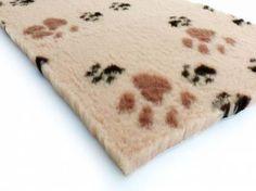 Dry-Bed - mehrfarbig - antirutschDry-Bed: Beige Mit Pfötchen 100x150cm