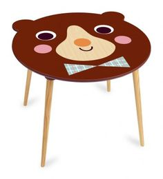 Update kids' room with our wide range of modern children's furniture, like this wooden Bear table by Vilac and Ingela P Arrhenius. Wooden Childrens Table, Modern Childrens Furniture, Wooden Tables, Contemporary Furniture, Playroom Furniture, Kids Furniture, Furniture Design, Toy Workshop, Construction For Kids