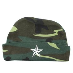 Camo White Star Baby Beanie Camo Baby Clothes, Camo Baby Stuff, Funny Baby Gifts, Funny Babies, Newborn Hats, Newborn Outfits, New Baby Girls, Baby Boy, Marine Corps Baby