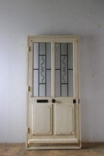 シンプルなアイアン飾り 玄関ドア 木枠完成品あり アンティーク ドア