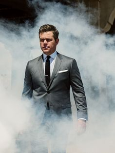 Matt Damon Shows You How to Kill It in a Gray Suit