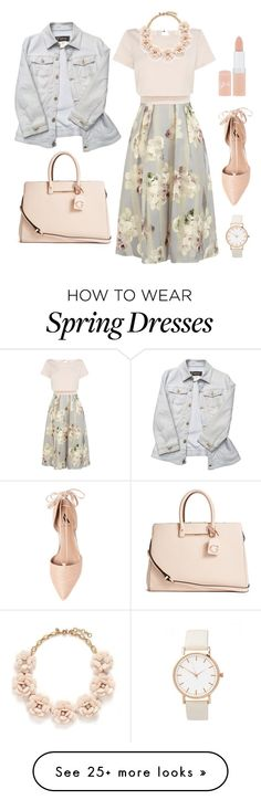 """""""Spring look"""" by fionahb on Polyvore featuring mode, GUESS, Versace, Coast, J.Crew, Rimmel, Ava & Aiden, women's clothing, women en female"""