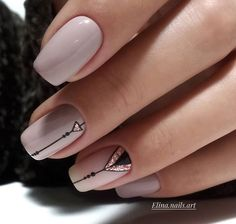 ideas nails sencillas acrilico – My World Simple Acrylic Nails, Acrylic Nail Art, Nail Art Diy, Diy Nails, Diy Art, Abstract Nail Art, Geometric Nail Art, Fall Nail Art, Tumblr Nail Art