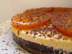 Chocolate Orange Cashew Cheese Cake. (Really I mostly want the candied ...