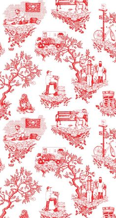 Toilet Near Me Tableau Deco Design Toile Mickey Vintage, Toile Bedding, Comforter Set, Toile Wallpaper, Eclectic Wallpaper, Paper Wallpaper, Print Wallpaper, Room Wallpaper, Ikea