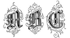 Old English Style Letters : ABC These Old English Style Letters are from Art Alphabets and Lettering by J. Gothic Lettering, Gothic Fonts, Graffiti Lettering, Lettering Design, Old English Font, English Style, English Writing, Calligraphy Alphabet, Calligraphy Fonts