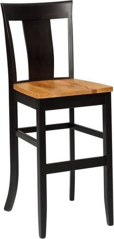 Amish Jamestown Bar Stool Bar stools built in Amish country, the Jamestown has long legs and lots of solid wood appeal. Custom made in choice of wood and stain. #barstools