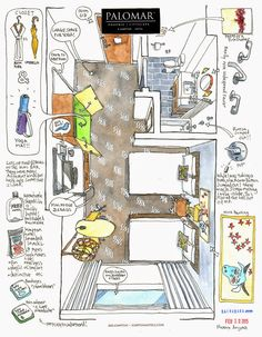 Urban Sketchers: Hotel with Yoga Mat! Interior Door Trim, Hotel Room Design, Principles Of Design, Interior Sketch, Watercolor Landscape, Watercolor Trees, Watercolor Portraits, Watercolor Painting, Urban Sketchers