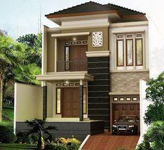 Most popular modern dream house exterior design ideas 00027 2 Storey House Design, House Front Design, Modern House Design, Casa Mix, Modern Minimalist House, Townhouse Designs, Dream House Exterior, Facade House, Exterior Design