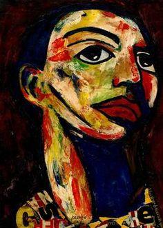 "Saatchi Art Artist CARMEN LUNA; Painting, ""47-RETRATOS Expresionistas. Fortaleza."" #art http://www.saatchiart.com/art-collection/Painting-Assemblage-Collage/Expressionist-Portrait/71968/51263/view"