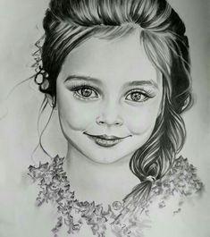 Portrait of a kid customhandmade portrait art Portrait Au Crayon, Pencil Portrait Drawing, Pencil Sketch Drawing, Girl Drawing Sketches, Portrait Art, Portraits, Drawing Art, Abstract Pencil Drawings, Realistic Drawings