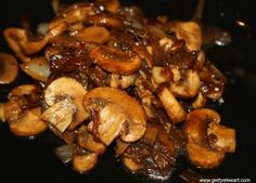 Sauteed mushrooms and onions a perfect topper for BBQ steak. http://www.gettystewart.com/sauteed-mushrooms-and-onions/