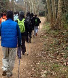 Aprenent la tècnica ALFA per la vall de Sant Daniel, Girona. www.nordicwalking-girona.blogspot.com