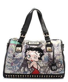 BETTY BOOP RHINESTONE PURSE MESSAGE TOTE PURSE LADIES HANDBAG SHOULDER STUDDED # #bettybooptotesatchelBag #TotesShoppers