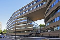 #architecture : Pushed Slab is located in Paris, France and it has been designed by MVRDV.